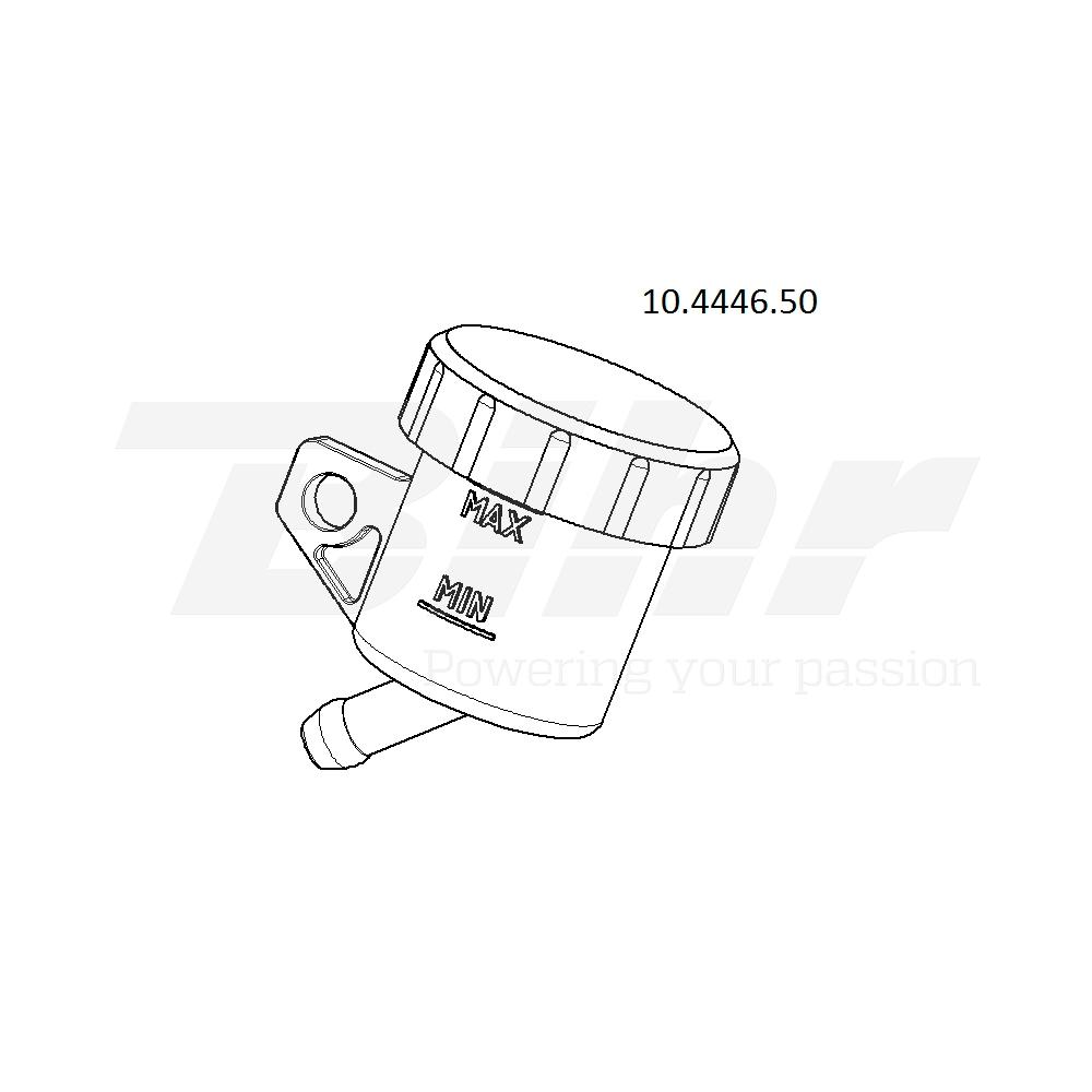 Depósito para bomba salida 45º soporte vertical