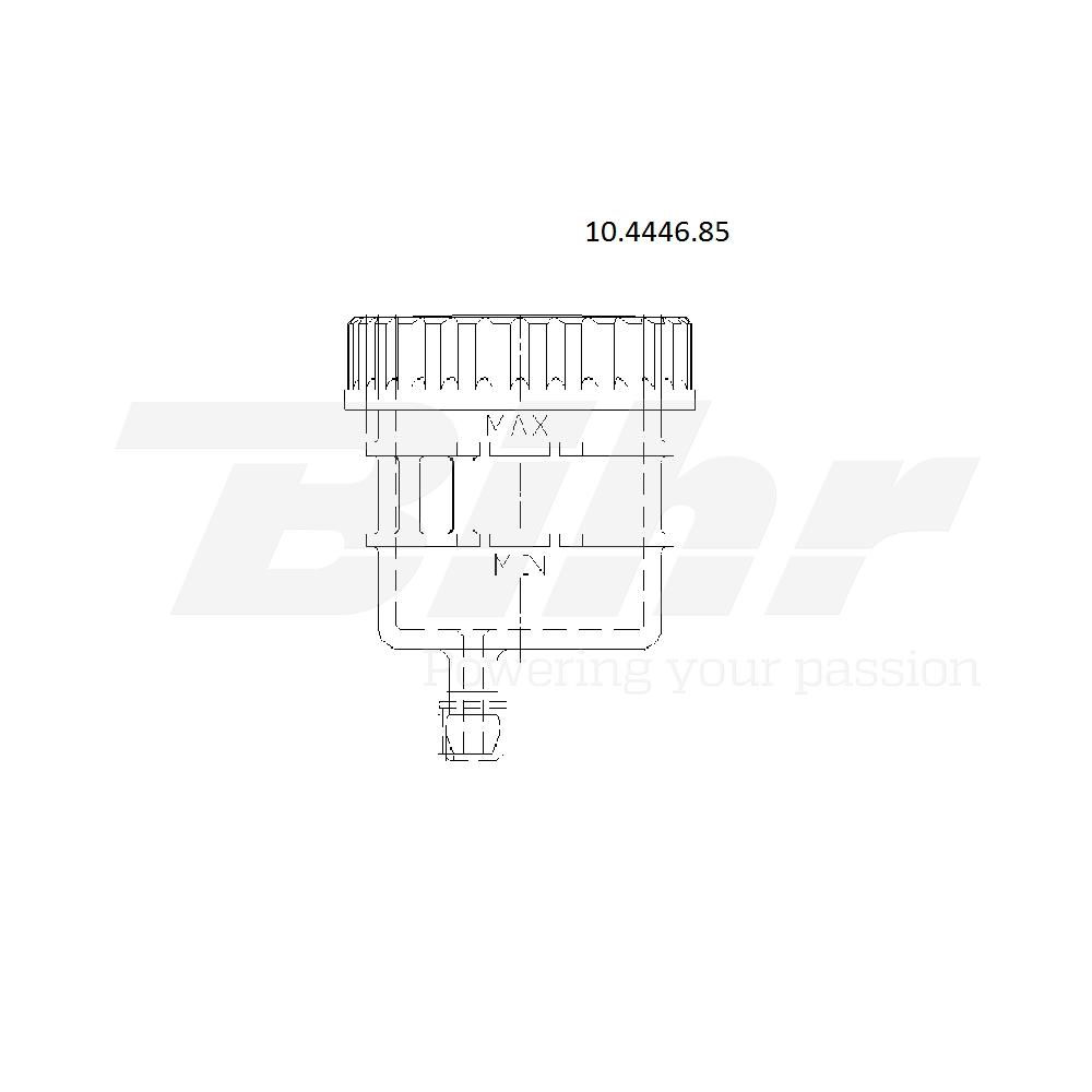 Depósito para bomba salida recta soporte por abrazadera