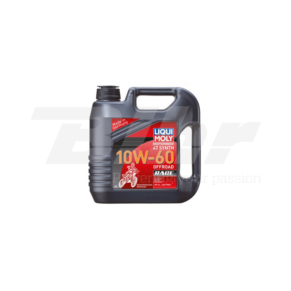 Aceite lubricante motor 4L 100% sintético 4T Synth 10W-60 Off road Race 3054