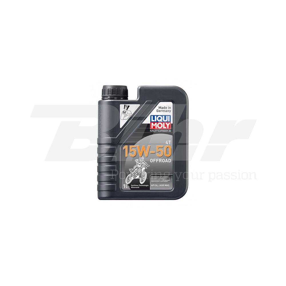 Aceite lubricante motor 1L semi-sintético 4T 15W-50 Off road 3057