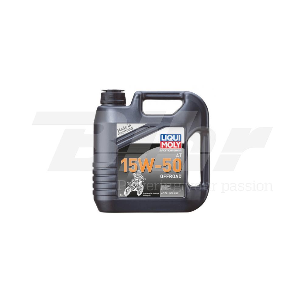 Aceite lubricante motor 4L semi-sintético 4T 15W-50 Off road 3058