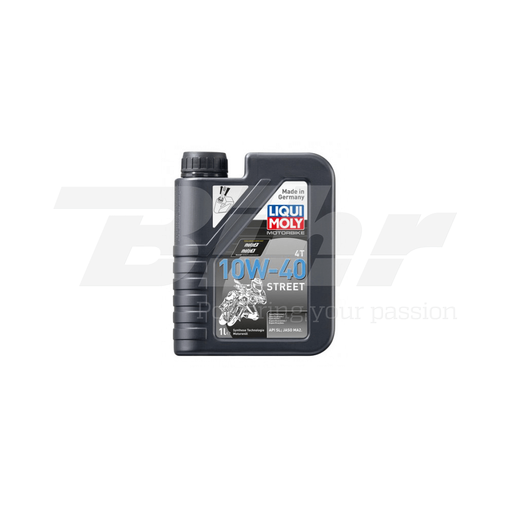 Aceite lubricante motor 1L Motorbike 4T semi-sintético 10W-40 Street 1521
