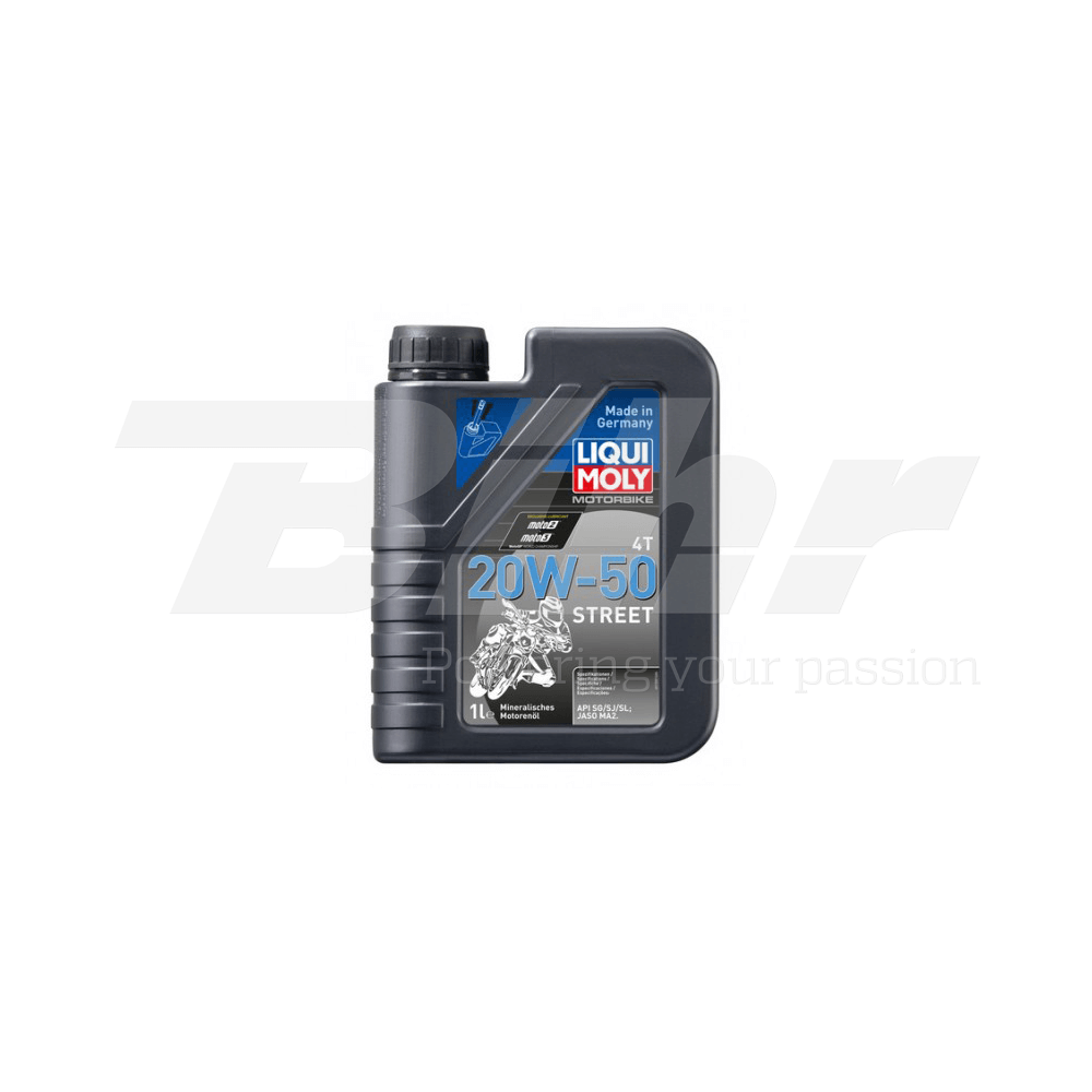 Aceite lubricante motor 1L Motorbike 4T mineral 20W-50 Street 1500