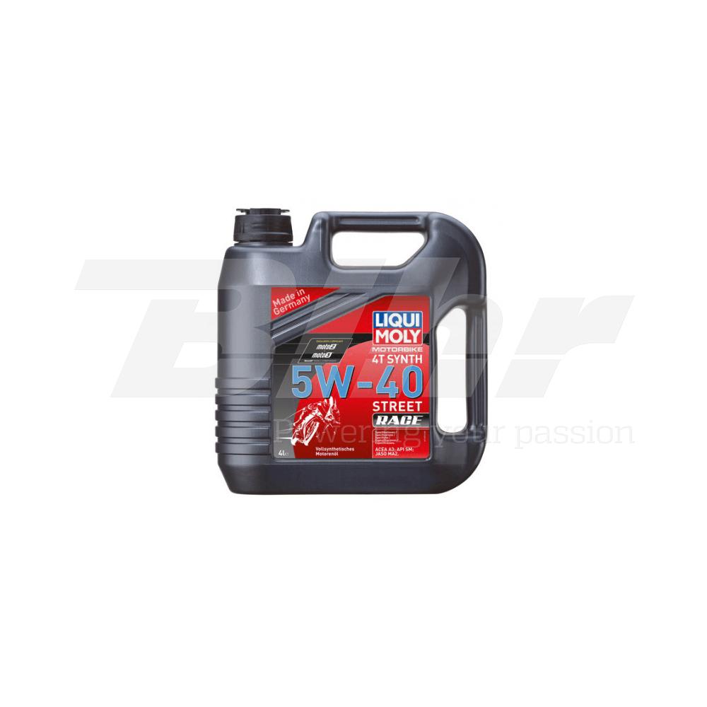 Aceite lubricante motor 4L Motorbike 4T 100% sintético 5W-40 Street Race 1685