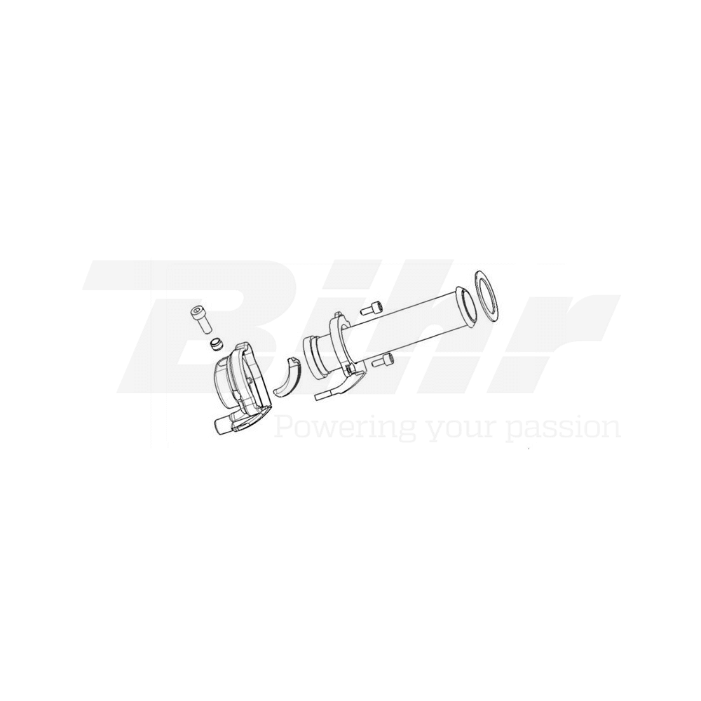 Acelerador con maneta  Piaggio 124mm 3745.03