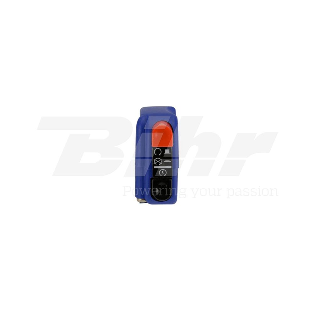 Botón encendido apagado on/off con arranque 9A azul 0417AB.9A