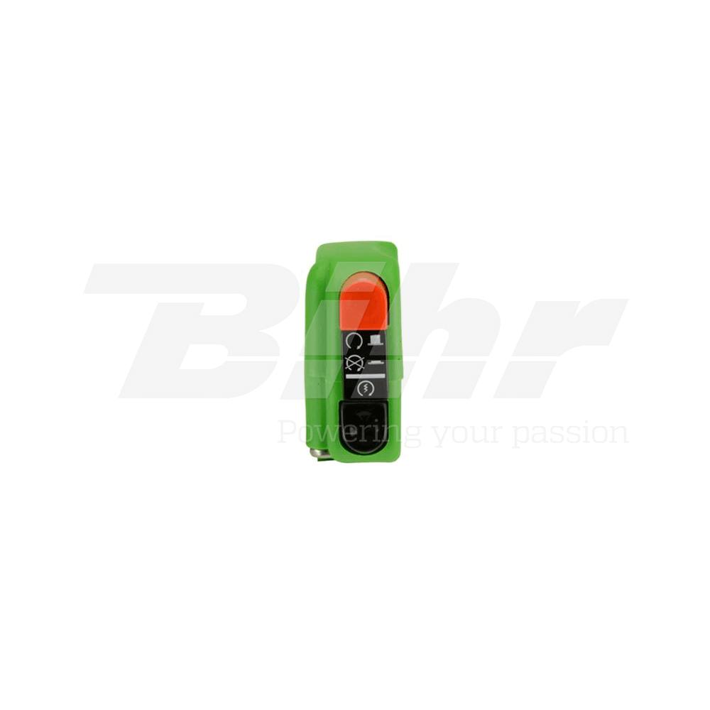 Botón encendido apagado on/off con arranque 9A verde 0418AB.9A