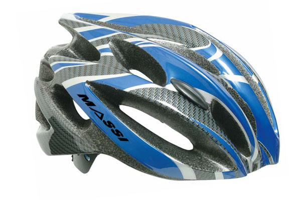 MASSI Bicycle cycling helmet Comp Carbon L silver bluee