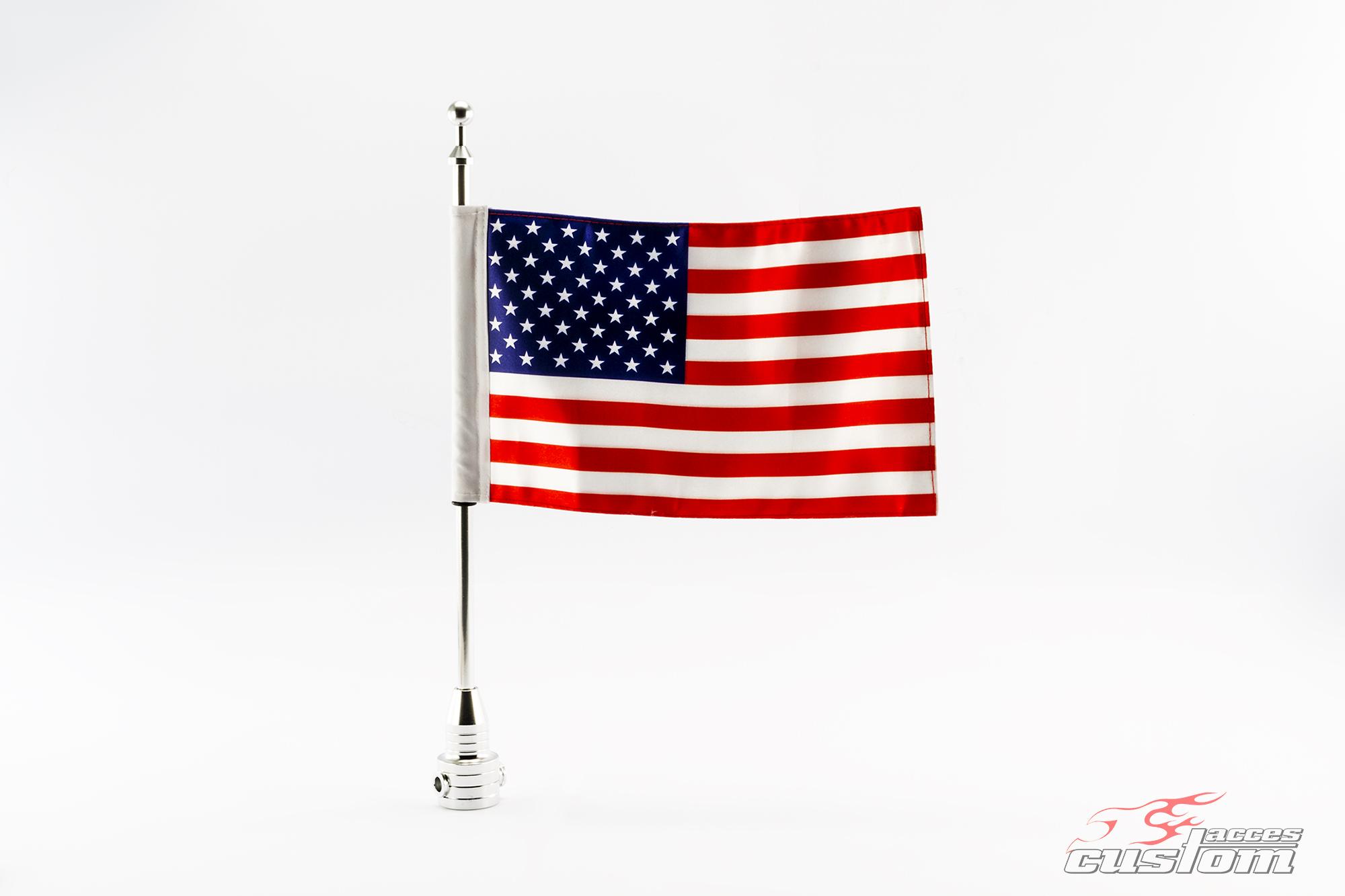 Mastil con bandera  USA