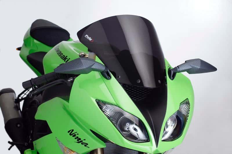 PUIG Windscreen windshield screen DARK SMOKE KAWASAKI ZX 6R (2009-2015)