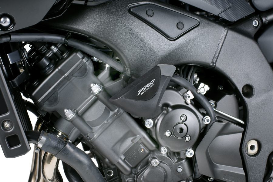 PUIG Protectores motor topes anticaidas PRO  NEGRO YAMAHA FZ8 (2010-2015)