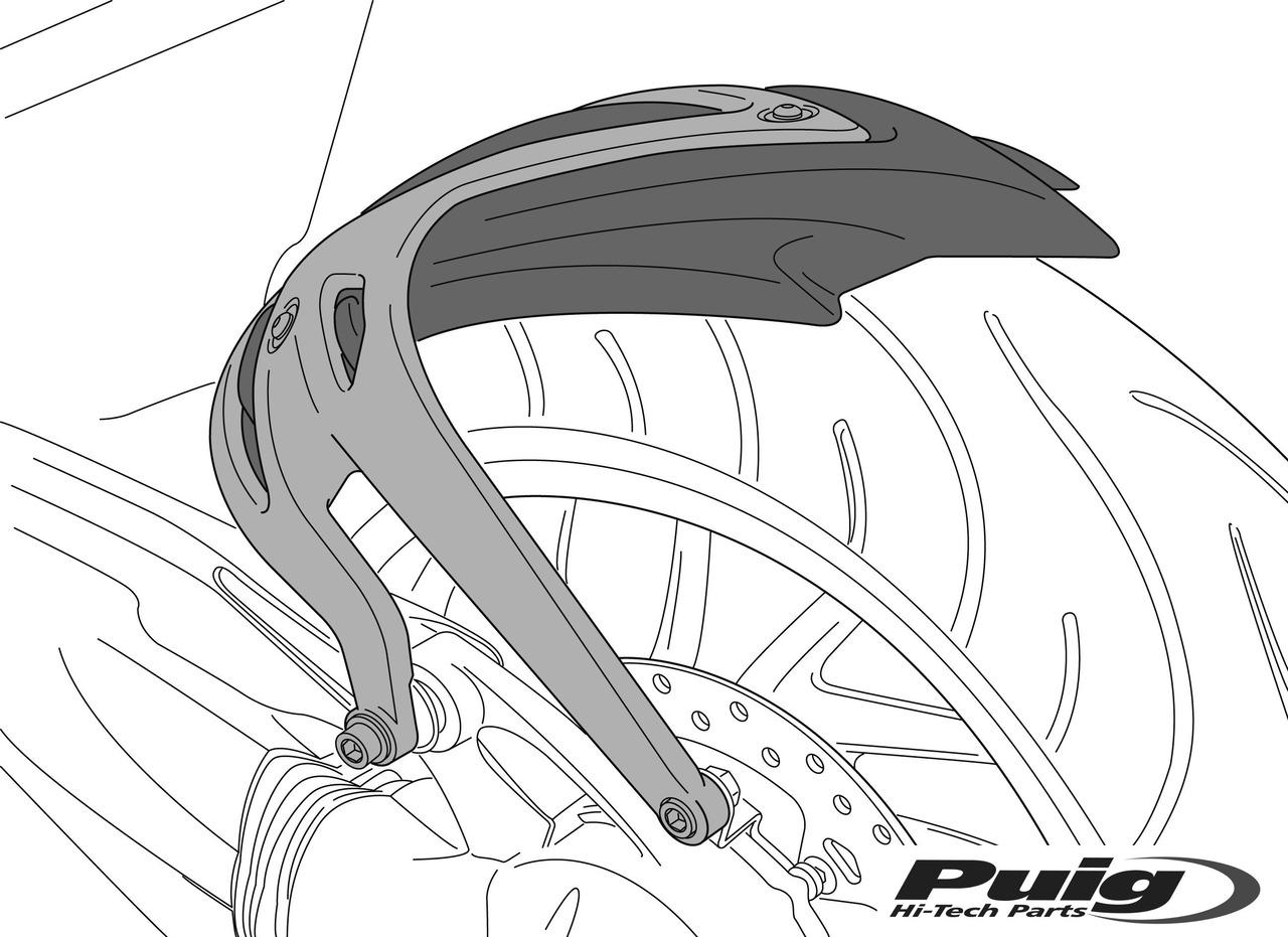 Guardabarros trasero PUIG compatible con YAMAHA MT-07 TRACER 2016-2018