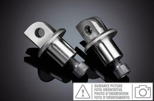 Adattatori metallici per pedane anteriori guidatore compatibile con KTM SUPERDUK